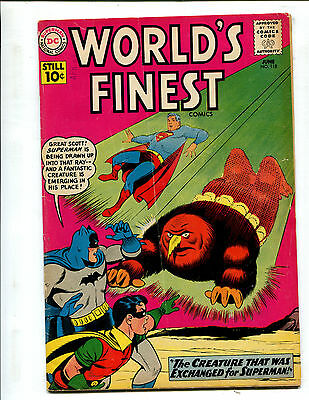 World's Finest #118 The Creature That Was Exchanged For Superman! (5.0) 1961