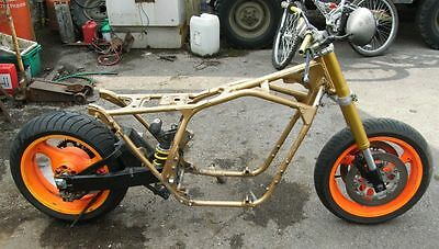 Honda CB900f Monoshocked Frame with GSXR swinger. Can be Posted.