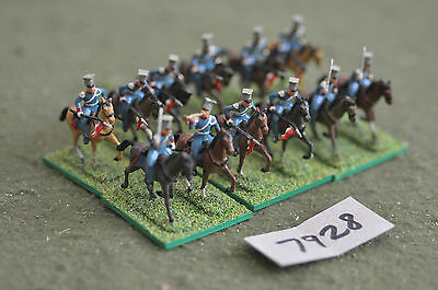 20mm napoleonic french french lancers 12 cavalry plastic (7928) painted