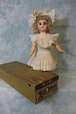"""Antique 17"""" Tete Bebe Jumeau French Bisque Doll in ORIGINAL BOX & Clothes Size 7"""