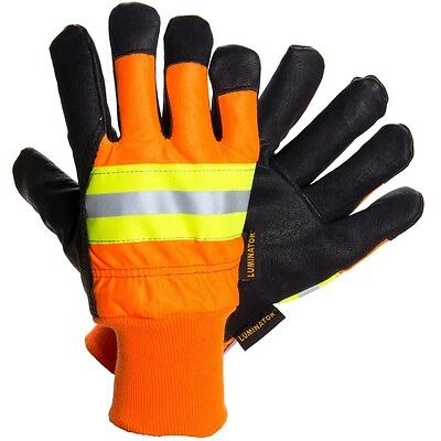 MCR Luminator 34411 Large Pigskin Leather Water Proof Insulated Work Gloves 1 DZ