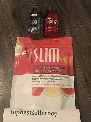 Plexus Slim And Boost And Block 30 Day Supply Pink Drink Weight Loss Free Ship