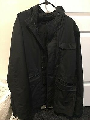 Mens Connor Black Size XL Dress Jacket Cargo Style With Hood New