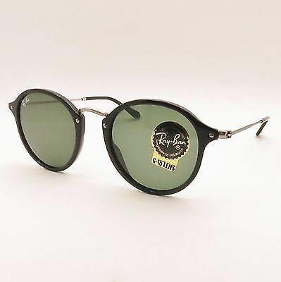 Ray Ban RB 2447 901 Black G15 Green 100% Authentic Sunglasses