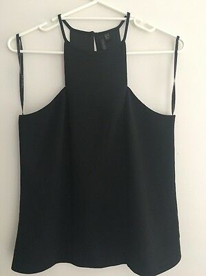 Ladies Nwot Size 10 Forever New Black Dress Top High Neck