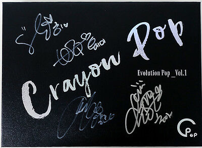 CRAYON POP - Evolution Pop_Vol.1 ALL MEMBER's AUTOGRAPHED CD