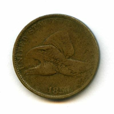 1857 CN 1c Flying Eagle Cent Penny VG #48786