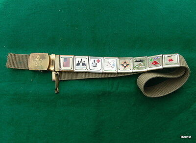 Vintage Boy Scout Belt With Eight Skill Awards