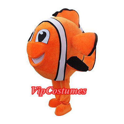 Nemo Clownfish Fish Mascot Costume Fancy Dress Free Shipping Adult Size
