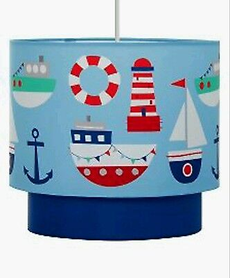 Nautical Sailing Boats Lightshade Ceiling Light Pendant SHADE NEW