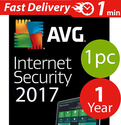 Avg internet security 2017  (3) pc (1) year Worldwide lisence & download