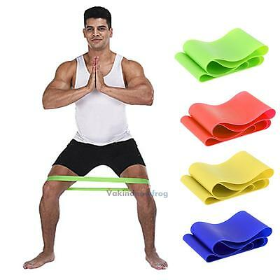 Resistance Stretch Loop Band Gym Pilates Yoga Fitness Training Elastic Rope New