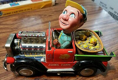 vintage 1950s nomura john's farm japan tin toy truck