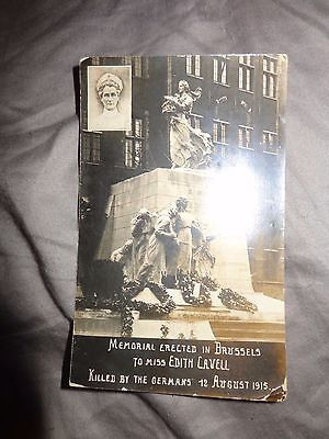 C1920's View of the Edith Cavell Memorial, Brussels Real photo