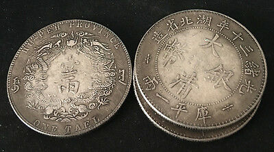 3PCS China Silver Dollar dragon coins   gy2