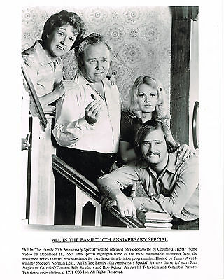 All in the Family 20th Anniv. Special 1991 8x10 black & white movie photo  #nn
