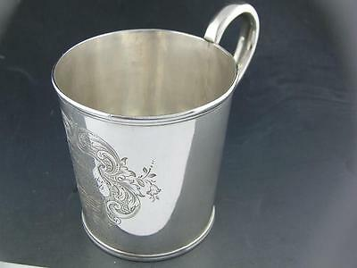 Coin Silver Cup Mug JONES BALL & POOR Boston MA Ira C Doe Saco Guards 1851