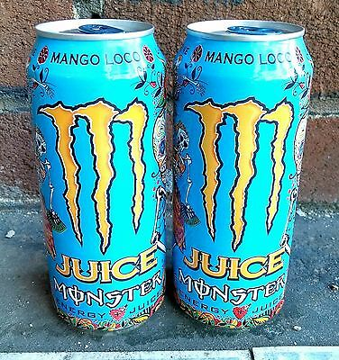 2x Monster Energy MANGO LOCO - NEW 2017 Flavor - TWO (2) Full, Sealed Cans!
