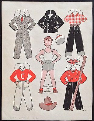 1938, Big Brother Tim, Perkins Family Series Mag. Paper Dolls, Wee Wisdom Mag.