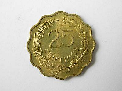 1953 Paraguay 25 centimos coin (1213)