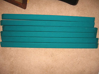 VALLEY POOL TABLE Replacement Rails for 6 1/2' Valley, covered GREAT SAVINGS!!