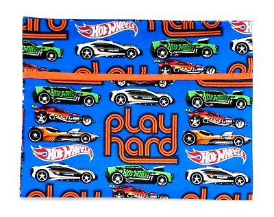 Hot Wheels Cars Toddler Pillowcase on Blue Cotton HW21-5 New Handmade