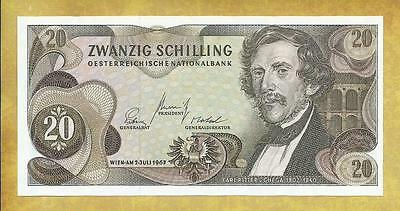 Austria 20 Schilling 1967 P-142a Unc Currency Banknote ***USA SELLER***