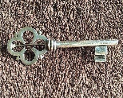Taxco Mexico Sterling Silver Key Brooch