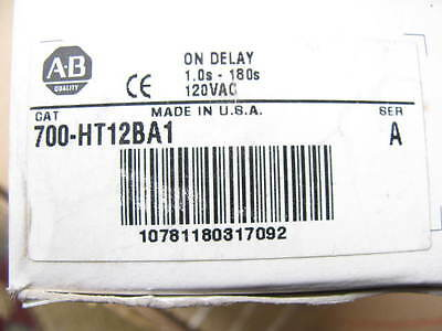 Allen-Bradley  new in the box  700-HT12BA1 ON DELAY TIMING RELAY