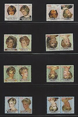 Easdale Island Scotland 1997 Lady Diana 8v with heads inverted + normal