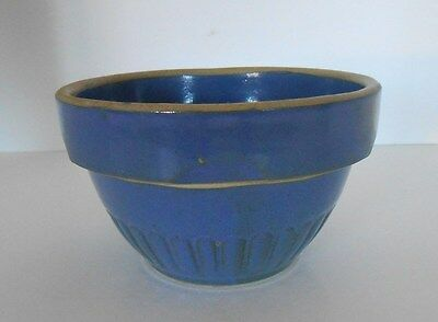 """Antique 5"""" Red Wing Stoneware Co. Small Blue Mixing Bowl Marked"""