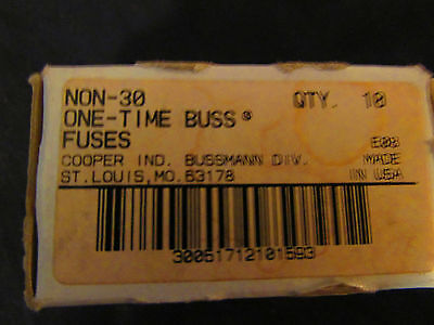 Buss Non-30 one time fuses NEW!!
