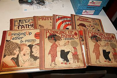 SEVEN VINTAGE BRINGING UP FATHER, MOON MULLINS, MUTT and JEFF C0MIC BOOKS