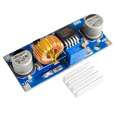 5A XL4015 DC Step Down Adjustable LED Lithium Charger 4-38V Power Supply Module