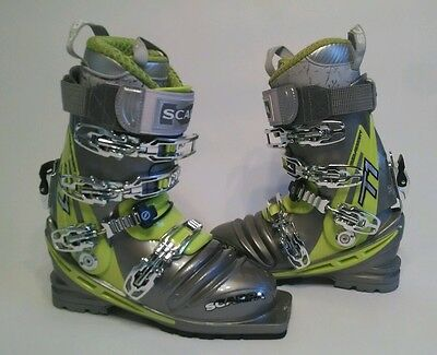 Scarpa T1 Telemark Ski Boots Women's size 22.5 Gray / Lime NEW in Box $700 Tele
