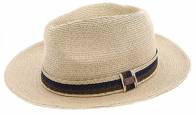 New With Tags Women's BAILEY'S Beige 100% Acrylic Panama Hat Size M