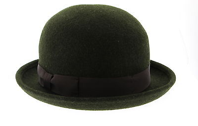 Women's UNIQLO Olive Green 100% Wool Fedora/Trilby Hat One Size