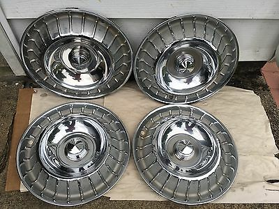 1962-63 Ford Thunderbird Wheel Covers. ( Good Set 4 )
