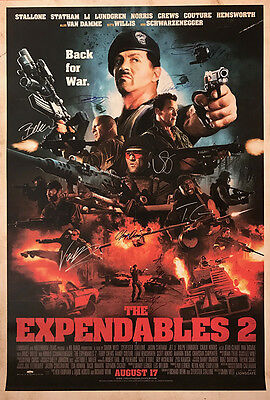 Signed The Expendables 2 Movie Poster