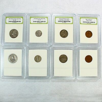 90% Silver 1944 Year Set includes Quarter, Dime, Nickel and Penny