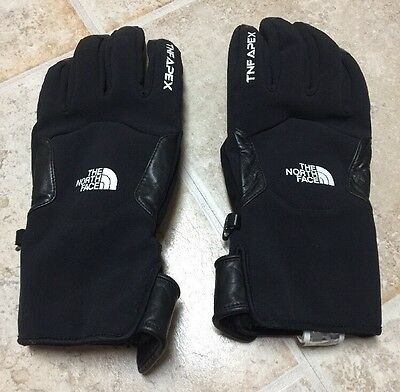 The North Face Gloves TNF APEX Black Neoprene With Leather Unisex Size XL