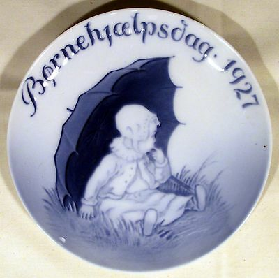 RARE ANTIQUE 1927 Royal Copenhagen Children's Welfare Day Plate Bing & Grandahl