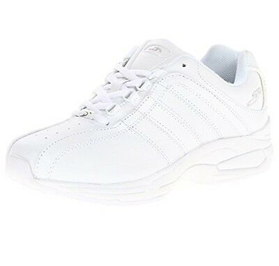 Dr. Scholl's Women's Kimberly Leather White Massaging Gel Athletic Shoes 7.5M