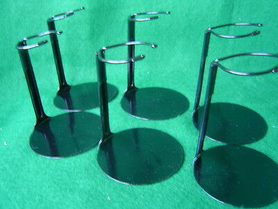 Doll Stands Six  6 Black Metal stands for 6 to 11 inch Dolls and teddy bears