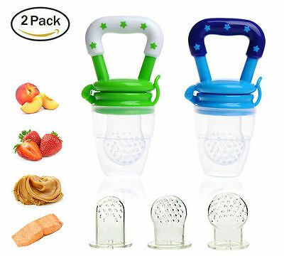 Baby Fresh Food Feeder Nippler Pacifier for Toddler Children 2 Pack Gift Set