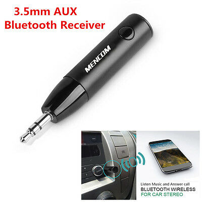 Car Bluetooth Wireless Receiver Adapter 3.5mm AUX Stereo Audio Music Player Mic