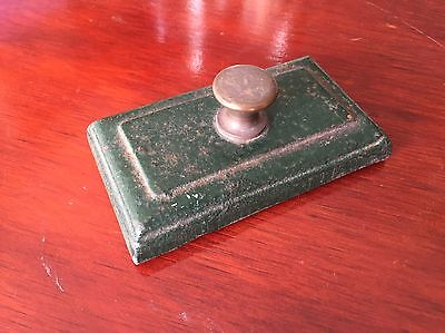 Antique Cast Iron & Brass Paperweight - 380g - Desktop Paperweight