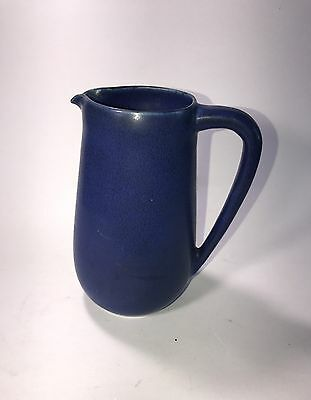 Palshus ART Pottery Denmark Small Blue Pitcher Numbered Signed Scandinavian