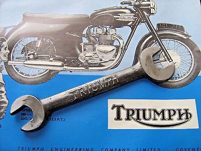 Triumph  Motorcycle Vintage  Spanner  Part Of Tool Kit Good Condition Reduced
