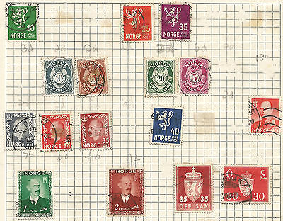 NORWAY-  lot of 16 stamps